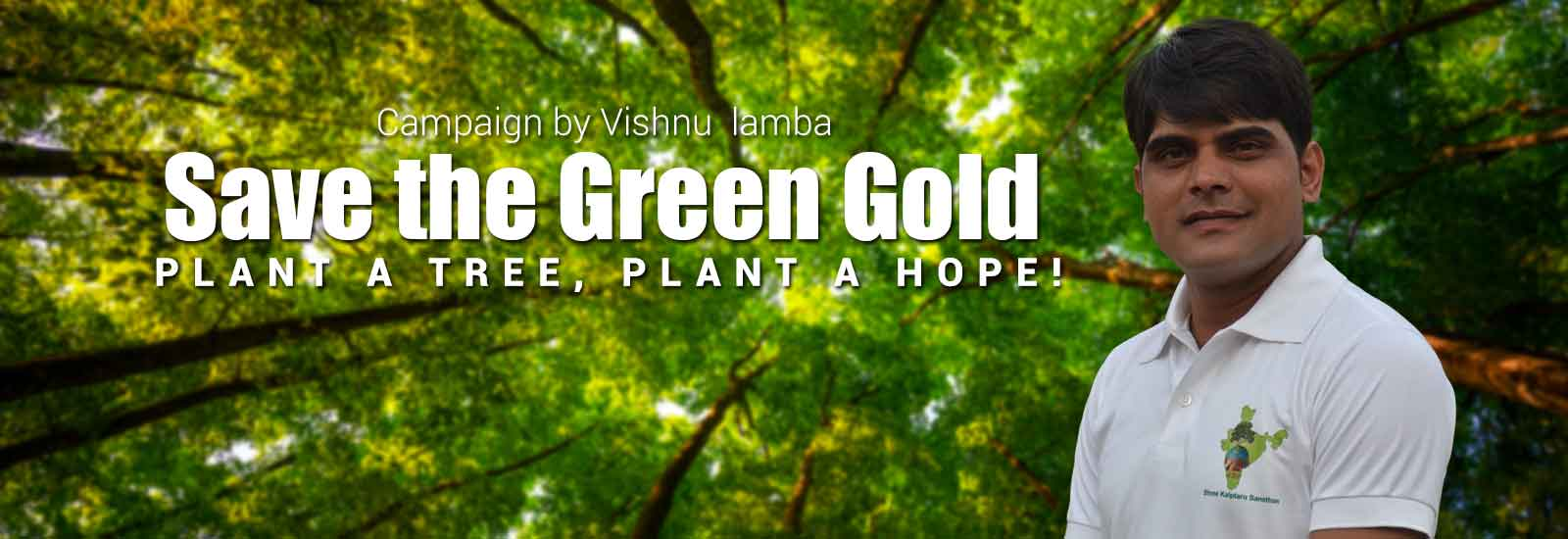 Plant the hope- let the green be seen